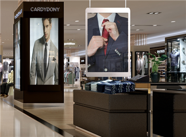 Shopping mall P5.21 LED transparent display case