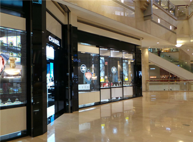 Shopping mall waterproof led transparent screen project case