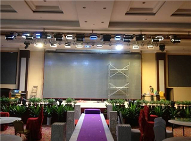 P4led display in the banquet hall of a hotel in Nanning, Guangxi