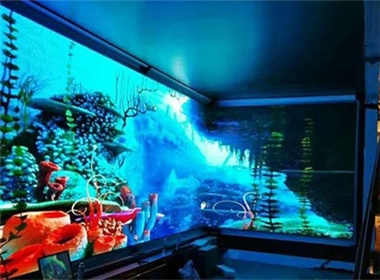 Longgang Center 90-degree indoor LED display case